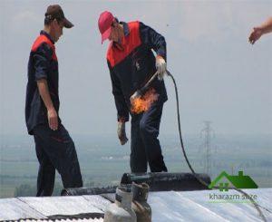 اجرای قیرگونی پشت بام